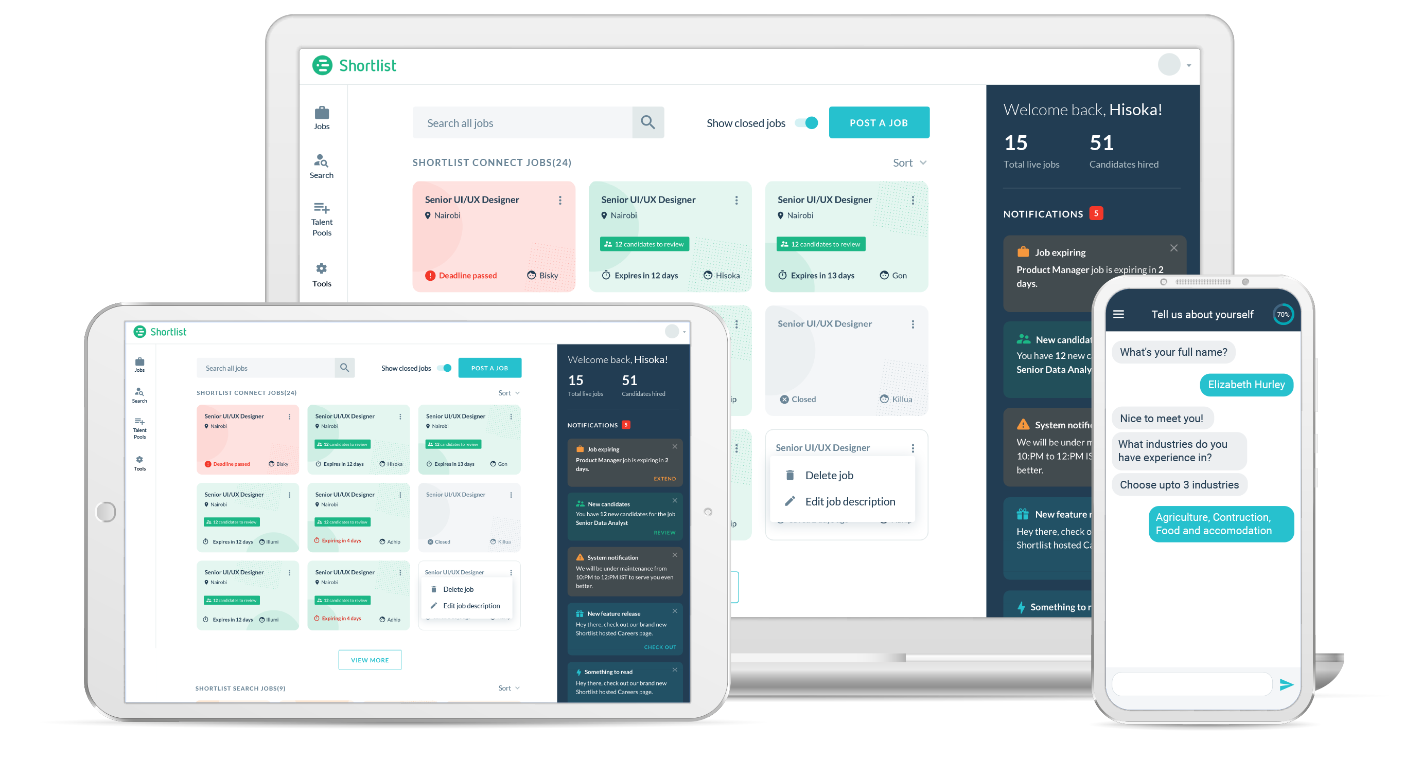 Shortlist Connect- Applicant tracking system